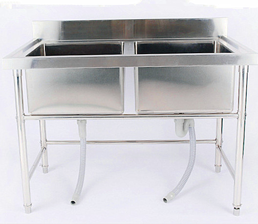 Modern design handmade sink double bowl stainless steel kitchen sink