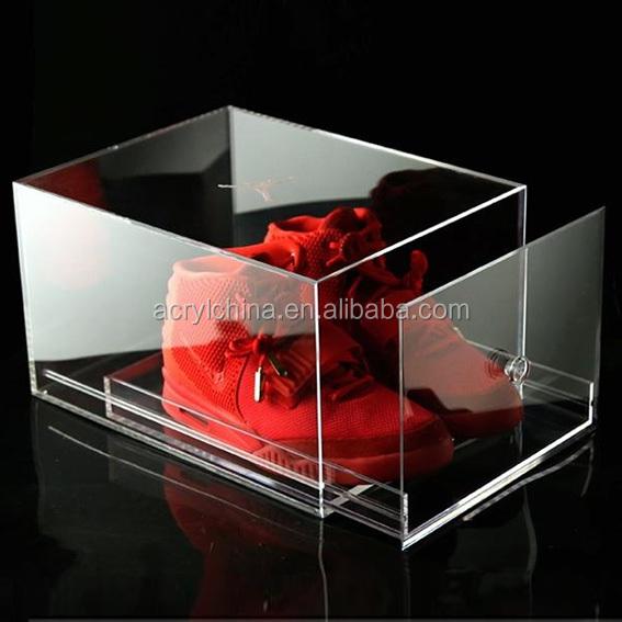 Boîte À Chaussures Avec Tiroir En Pmmaacryliqueplexiglasplexiglas Transparent De Haute Qualité Buy Boîte À Chaussures Nike,Boîte À Chaussures