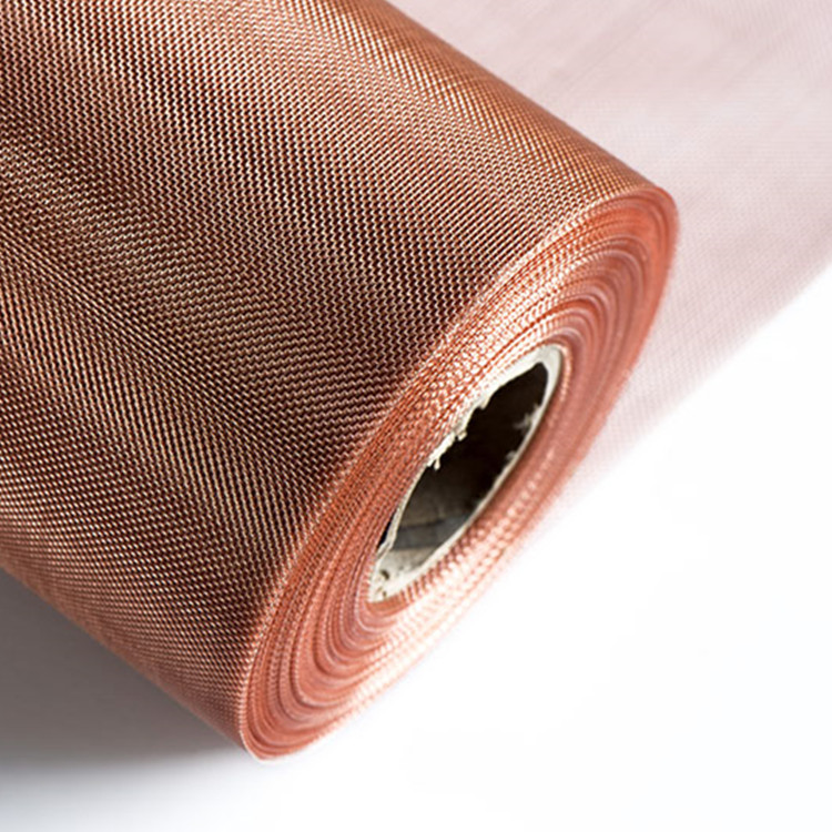 Ultra fine 180 200 mesh red copper wire mesh lowes for rf shielding