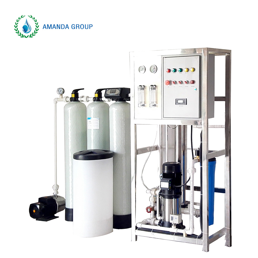 Small capacity ro well water treatment plant