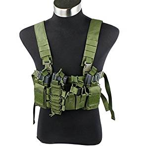 New OD TMC D3 D-Mittsu Chest Rig Vest for Airsoft Paintball TMC2077-OD Green