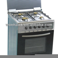 Fashion Model!!! High Quality Freestanding 4 Gas Burners With Oven with Stainless Steel Material