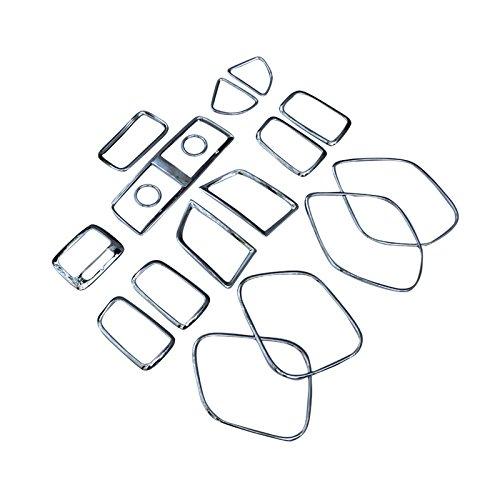 2013-2016 For Mitsubishi RVR/ASX/Outlander Sport Interior Decoration Covers Trim Kit ABS Chrome 17pcs