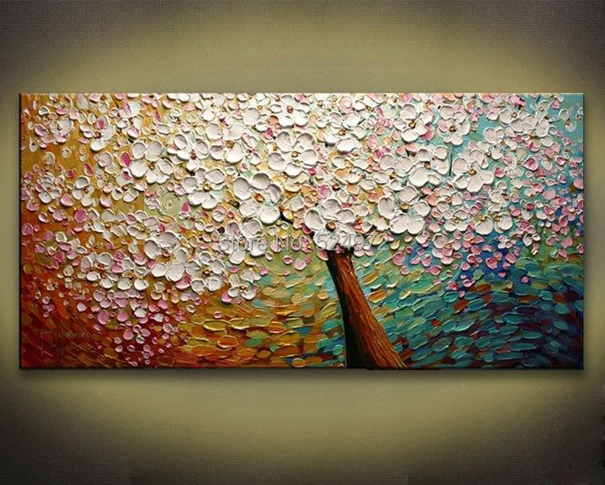 100% Handpainted modern home decor abstract wall art ...