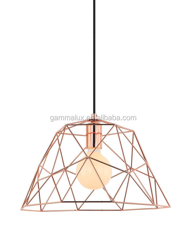 New Style E27 Copper Hanging Lamp,Edison Light Bulb Cage Lamp ...