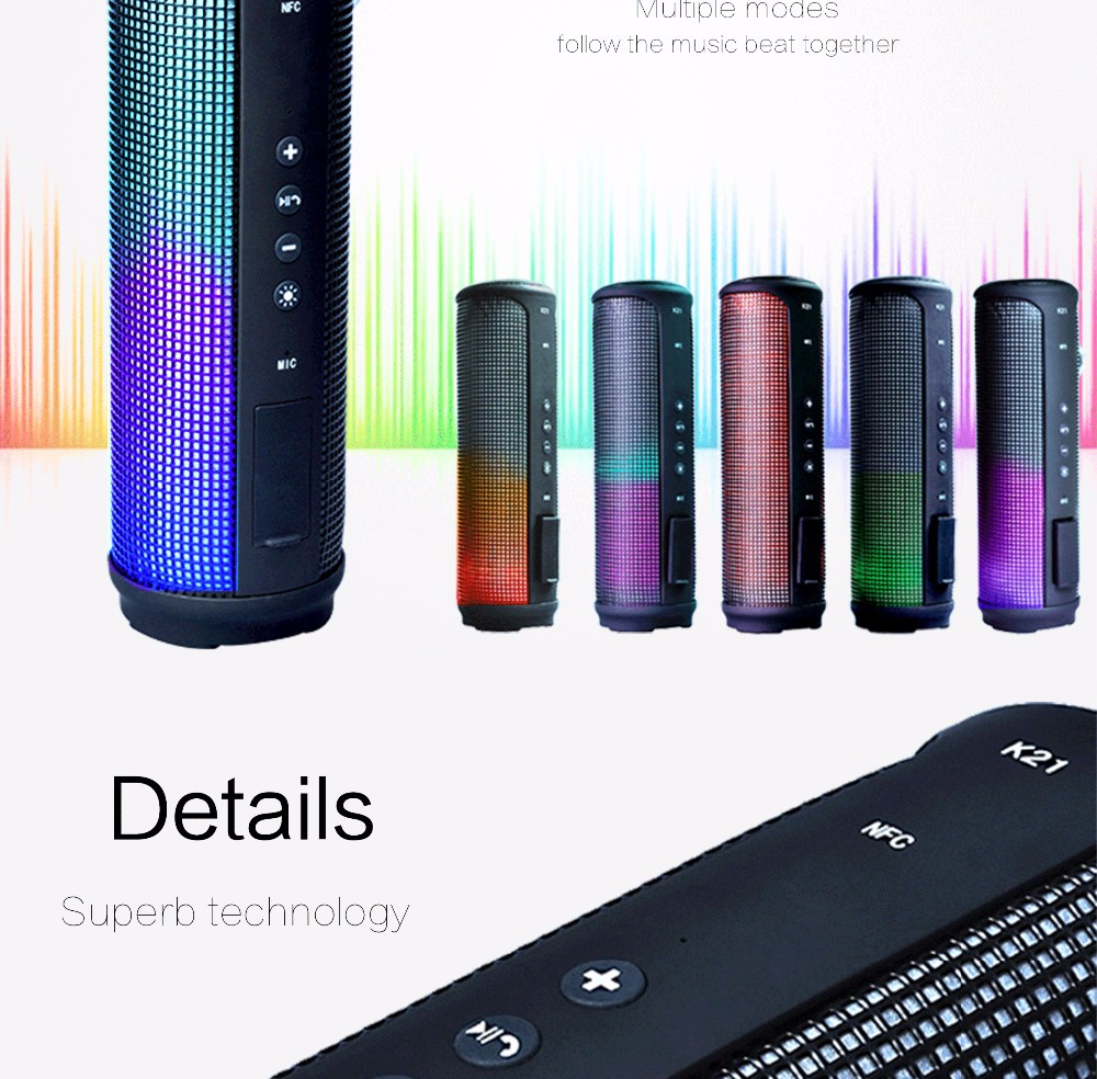 LED Outdoor Sport wireless bluetooth speaker