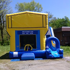 Large inflatable combo jumper with slide