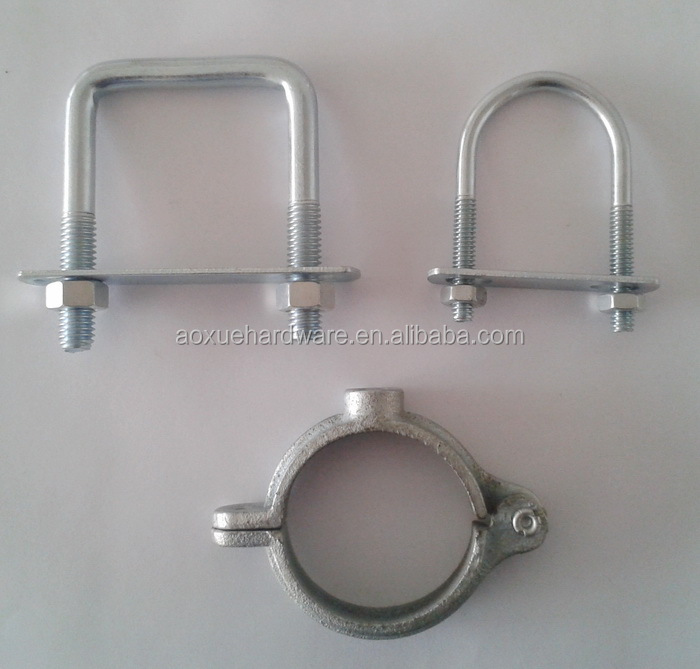 Hot sale square u bolt pipe clamp metal fastener