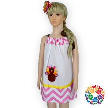 Best Birthday Gift Dresses Latest Design Baby Frock Summer Pillowcase Dress With Match Headband For Kids