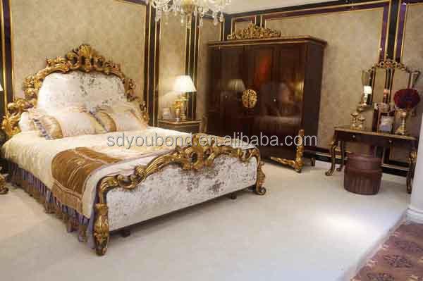0063 European Design High Gloss Luxury Royal Bedroom Furniture Set ...