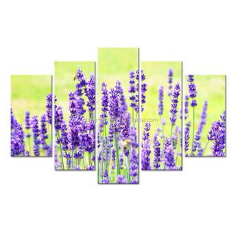 Fl Painting Canvas Prints Large Size Purple Lavender Art Picture Mural For
