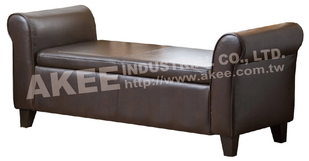 Leather storage ottoman bed end bench buy storage for Storage ottoman for end of bed