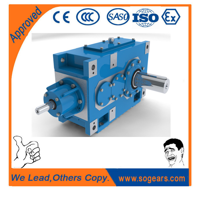 Cast iron Bevel-helical right angle gearbox H/B1 KH