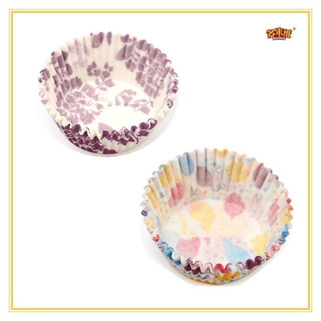 Food grade color printing muffin cup cake paper/ripple wall paper cup/baking paper cup cake/Mini Silicone Reusable cake mold mak