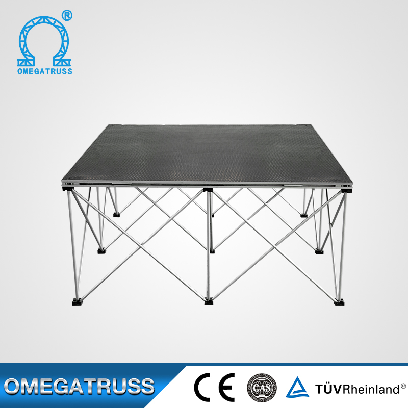 Plywood aluminum 6082T6 mobile stage for Corporate Events