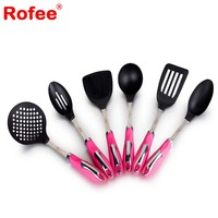 Kitchen Cooking tools Utensils - 8 Piece Cooking Utensils - Nonstick Utensil Set - Silicone and Stainless Steel Kit