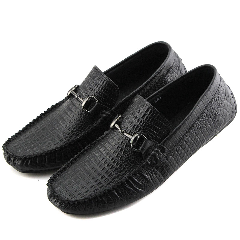 2015 Fashion Trend Crocodile Moccasins Men Cowhide Genuine Soft Leather Breathable Soft Suede Loafers Driving Flat Men Shoes