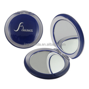 Round Acrylic portable silver 10X magnifying glass prices compact Mirror