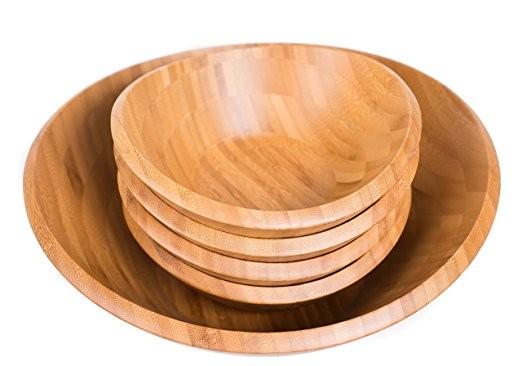 Wholesales cheap practical customized bamboo salad bowl