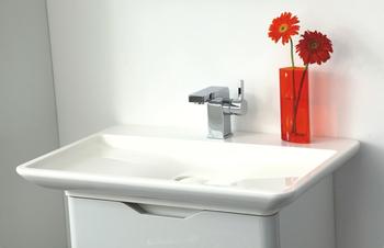 Eenvoudige witte kleur kleine vanity eenheden massief hout badkamer