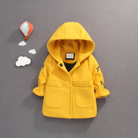 S34070W 2017 fashion children's clothing winter baby woolen princess coat