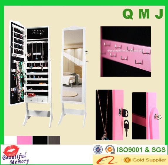 Multi- función chino muebles antiguos blanco espejo armario joyas ...