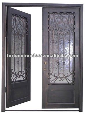 Puertas hierro exterior trendy de hierro forjado de - Puertas de hierro para exteriores ...