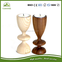 European Style Decoration Wooden Candle Holder Candleholder Stand