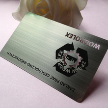 Electroplating black metal business cards