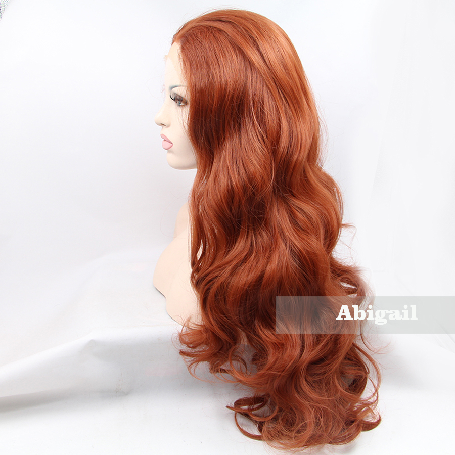 Abigail Hair 22inch Natural Wave Light Brown Synthetic Front Lace Wig