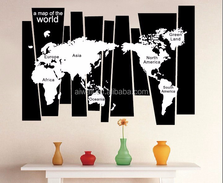 8120 World Map 3D Wall Stickers High Quality World Map Wall Sticker, Decal  Printing,