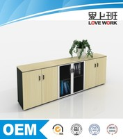 Eco-friendly office book shelf double side hanging file cabinet with storage