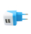 Opvouwbare Thuis Charger US Plug Dual Usb Universele Lader Usb Adapter