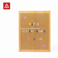 2018 hot new products wooden letter board with letters