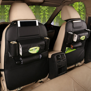6 Colors In Stock Camouflage Car Seat Back Backseat Storage Bag Organizer With Leather