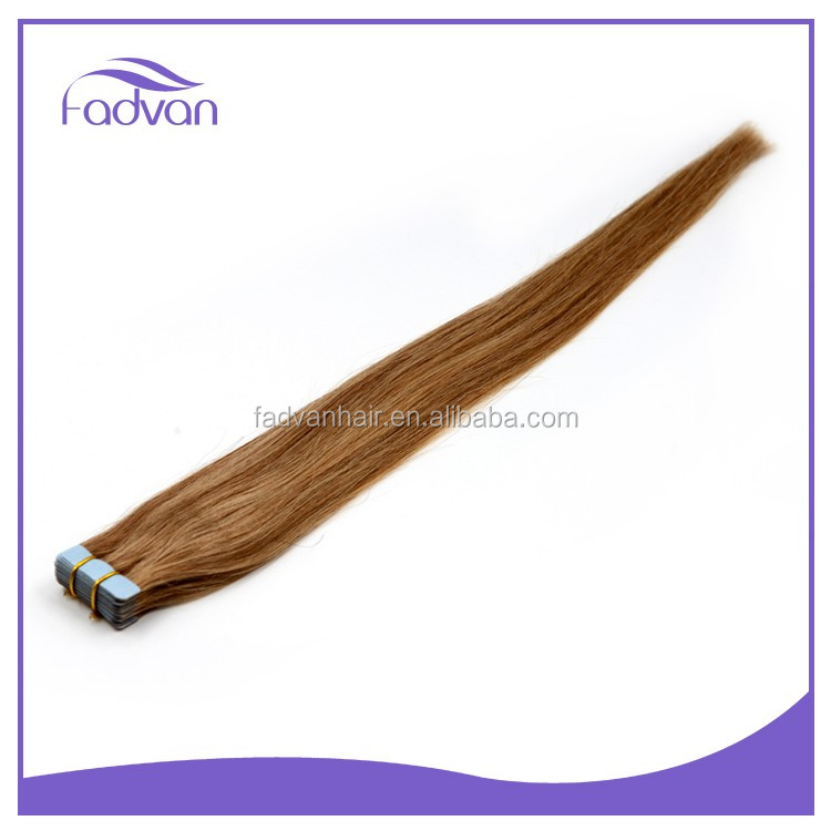 African American Straight Hair #16 Brazilian Virgin Remy Tape Human Hair Extensions
