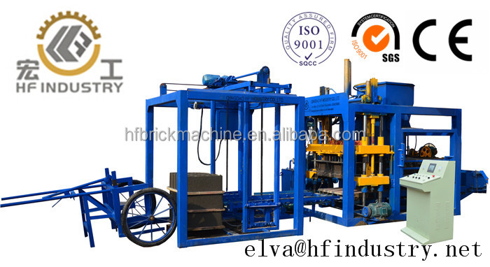 QT4-18 HF Brand hydroform cement hollow block shaping machine for building simple operation concrete brick equipment price