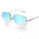 fashion sunglasses 2016 mirror lens oversize glasses metal frame rimless cool sunglasses