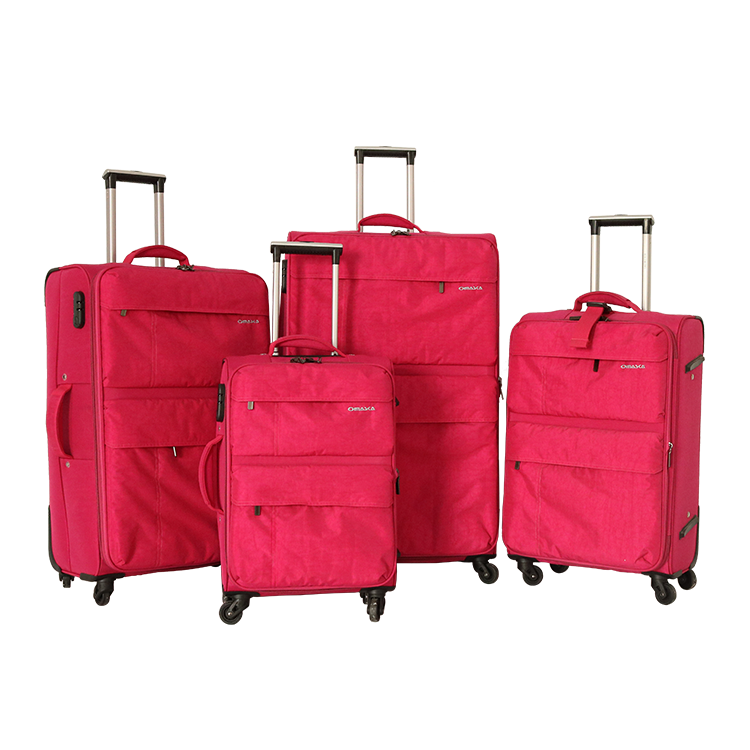 20 24 28 32 inch casual zipper pocket spinner wheels buckle nylon 4 trolley luggage bags cases