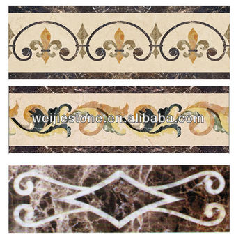 Stone Pattern And Border Design Marble Waterjet Border