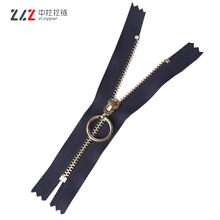 #3 High Quality Y Teeth Metal Light Gold Close-end Metal Zippers for Garment and Bags