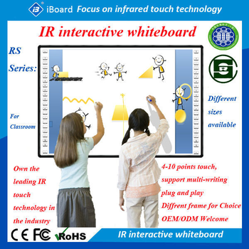 82 Inch Interactive Projector Screen Touch Whiteboard With Short ...