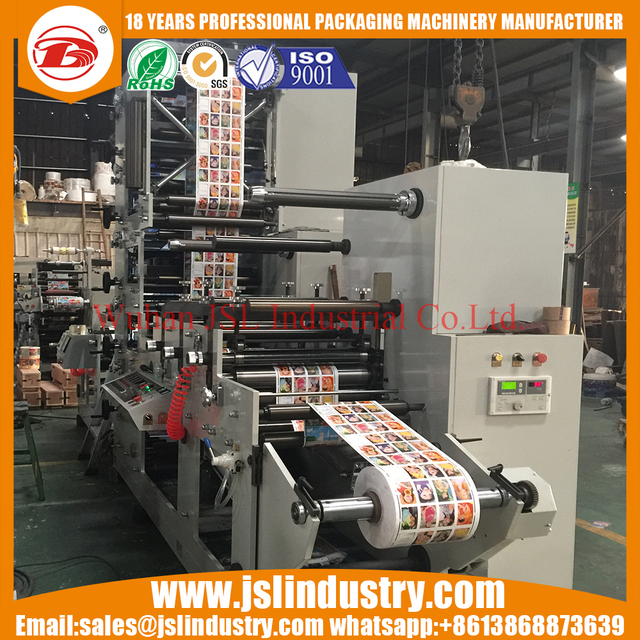 Six6 color paper sticker label flexo printing press machine