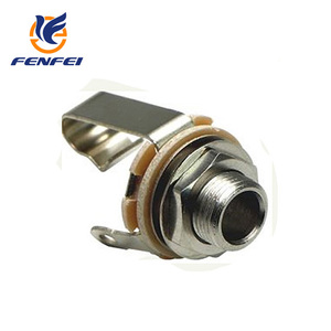 Electric connector 6.35mm mono jack open circuit wire connector
