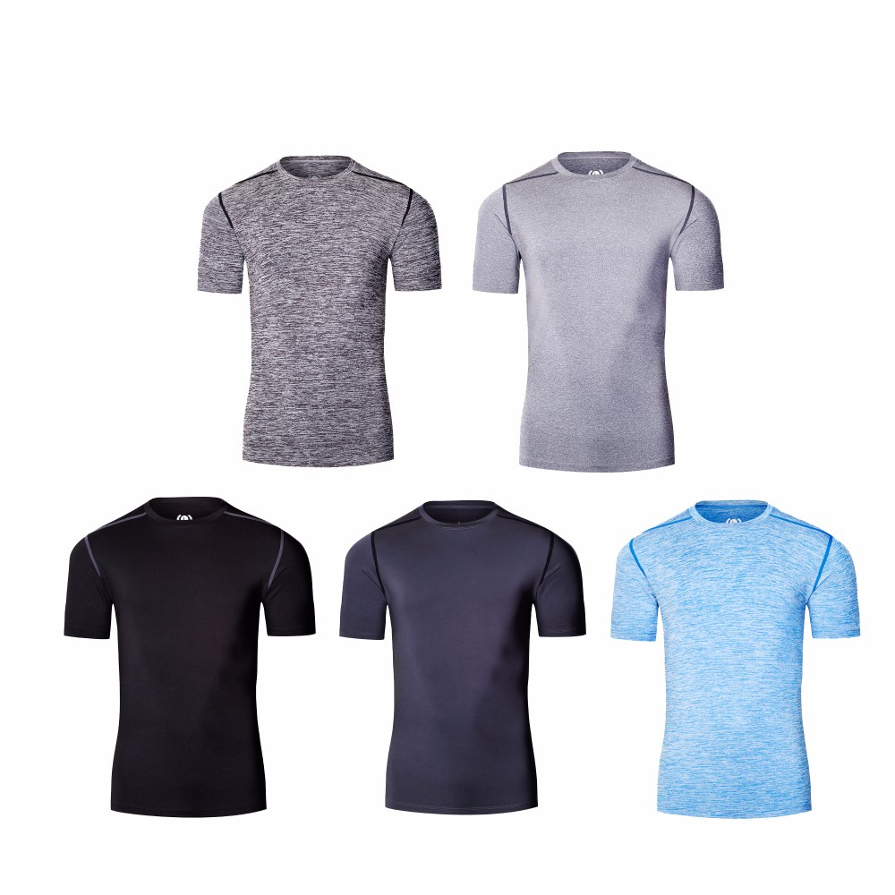 Respirant Homme à manches courtes T-shirt Quick Dry Fitness Gym Course Shirts Tops