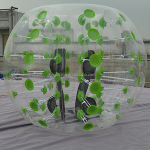 One color dots PVC bubble bumper ball, inflatable body bump ball for kids D5008