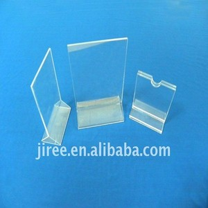 Transparent Clear Acrylic Menu/Brochure /Business Card Holder