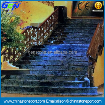 Green natural marble stairs hot interior design buy for Sustainable interior design products