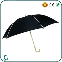 special wood crook handle 23 inch umbrella with silk screen printing