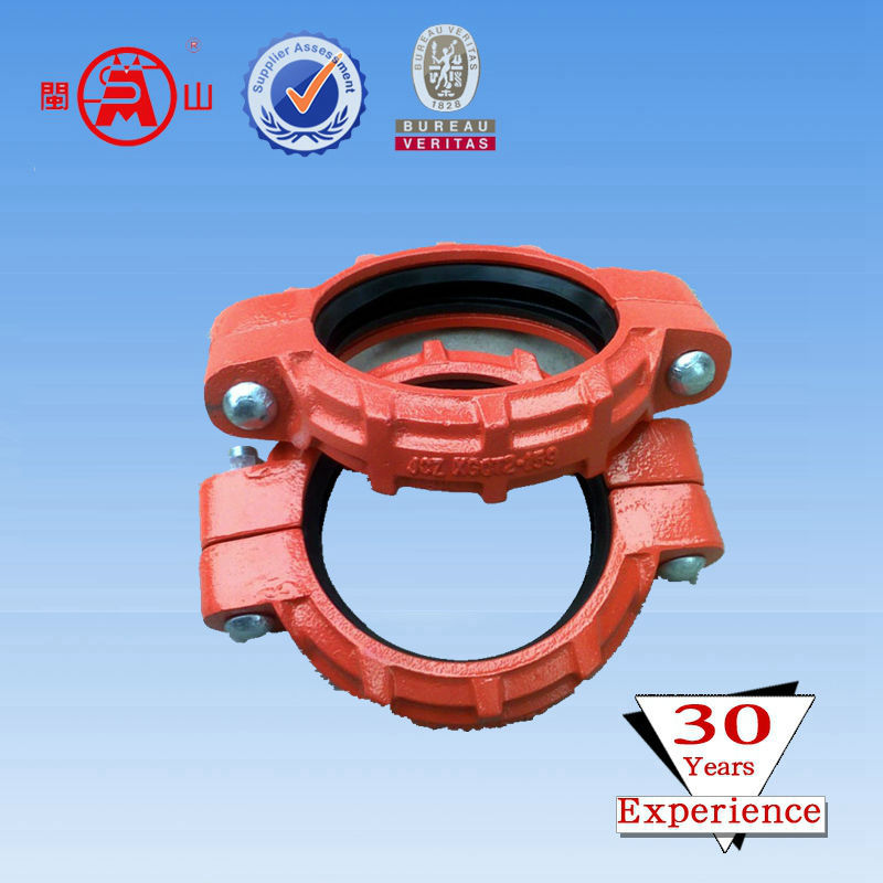 High strength grooved pipe fittings/rigid coupling